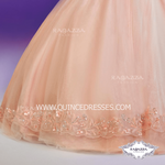 SHORT SLEEVE 2-PIECE QUINCEANERA DRESS BY RAGAZZA FASHION D34-534