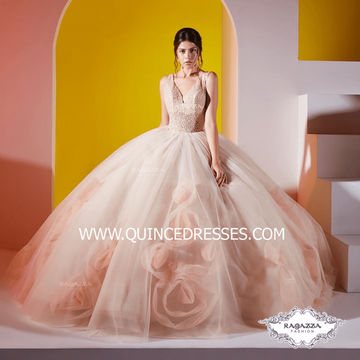 ROSETTE SKIRT QUINCEANERA DRESS BY RAGAZZA FASHION DV39-539