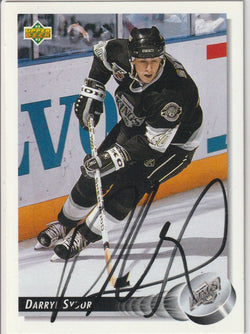 Darryl Sydor Autograph 1992-93 Upper Deck Hockey Card