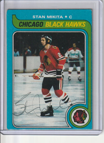 Stan Mikita Autograph 1979-80 Topps Hockey Card