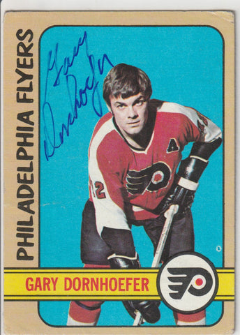 Gary Dornhoefer Autograph 1972-73 Topps Hockey Card