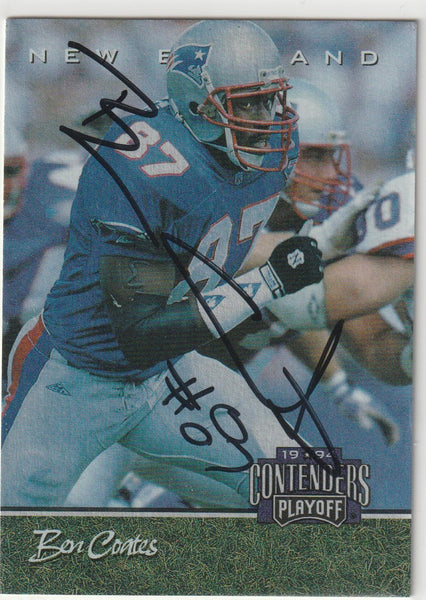 Ben Coates Autograph 1994 Contenders Playoff Football Card