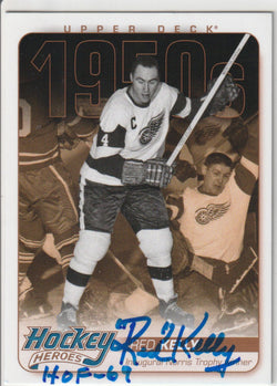 Red Kelly Autograph 2011-12 Upper Deck Hockey Card