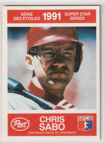 Chris Sabo 1991 Post Canadian Super Star Series #10