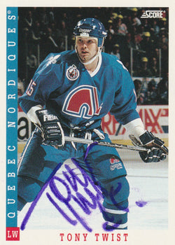Tony Twist Autograph 1993-94 Score Hockey Card