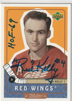 Red Kelly Autograph 1999-2000 Upper Deck Retro Hockey Card