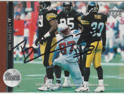 Ben Coates Autograph 1996 Upper Deck Football Card