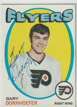Gary Dornhoefer Autograph 1971-72 Topps Hockey Card