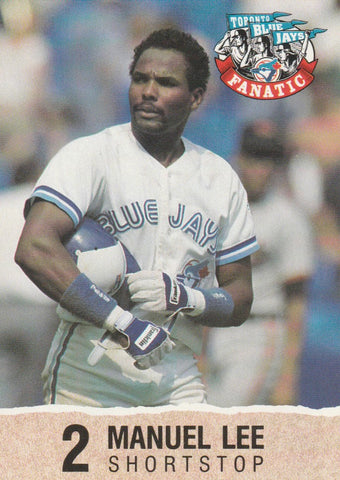 Manuel Lee 1992 Toronto Blue Jays Fire Safety #2