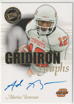 Adarius Bowman 2008 Topps Rookie Progression - Single Signatures #PSS-AB Autograph