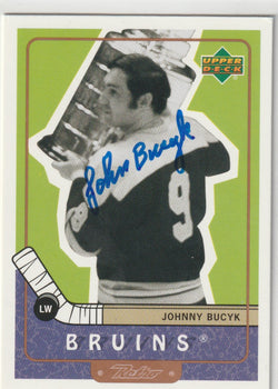 Johnny Bucyk Autograph 1999-00 Upper Deck Retro Hockey Card