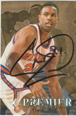 Charlie Ward Autograph 1994-95 Upper Deck SP Basketball Rookie Card