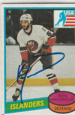 Ken Morrow Autograph 1980-81 Topps Hockey Rookie Card