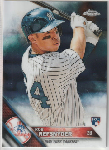 Rob Refsnyder 2016 Topps Chrome #24 Rookie Card