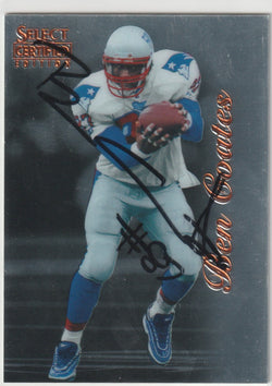 Ben Coates Autograph 1996 Select Certified Edition Football Card