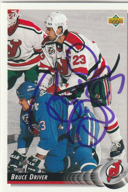 Bruce Driver Autograph 1992-93 Upper Deck Hockey Card