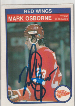 Mark Osborne Autograph 1982-83 O-Pee-Chee Hockey Rookie Card