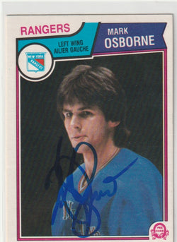 Mark Osborne Autograph 1983-84 O-Pee-Chee Hockey Card