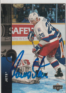 Thomas Steen Autograph 1994-95 Upper Deck Hockey Card