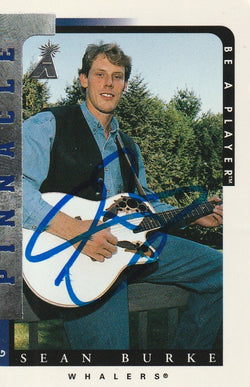 Sean Burke Autograph 1996-97 Pinnacle BAP Hockey Card