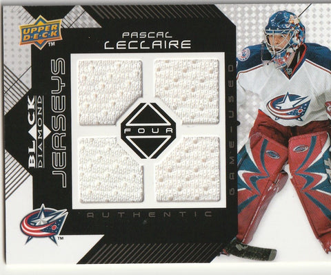 Pascal Leclaire 2008-09 Upper Deck Black Diamond - Quad Jerseys #BDJ-PL