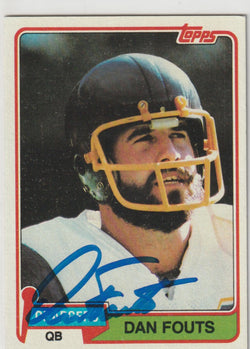 Dan Fouts Autograph 1981 Topps Football Card