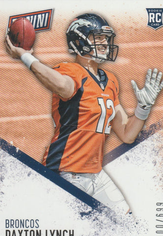 Paxton Lynch 2016 Panini Day #54  /699 Rookie Card