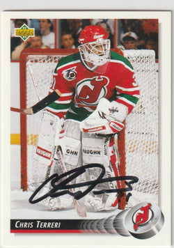 Chris Terreri Autograph 1992-93 Upper Deck Hockey Card