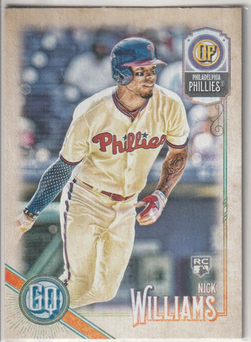 Nick Williams 2018 Topps Gypsy Queen #196 Rookie Card