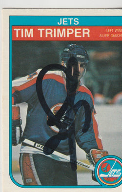 Tim Trimper Autograph 1982-83 O-Pee-Chee Hockey Card