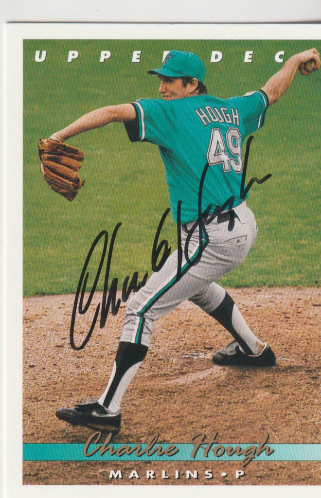 Charlie Hough Autograph 1993 Upper Deck Baseball Card