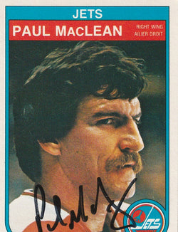 Paul MacLean Autograph 1982-83 O-Pee-Chee Hockey Card