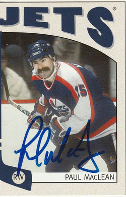 Paul MacLean Autograph 2005 In The Game Hockey Card