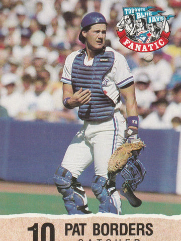 Pat Borders 1992 Toronto Blue Jays Fire Safety #10