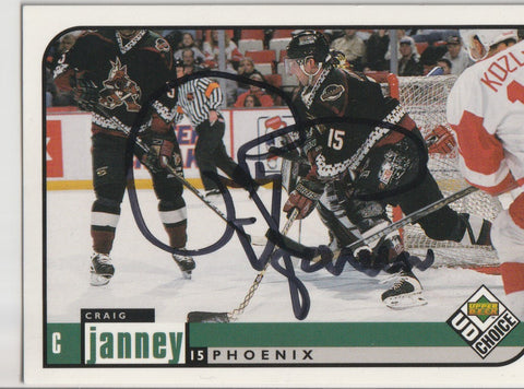 Craig Janney Autograph 1998-99 Upper Deck Collectors Choice Hockey Card