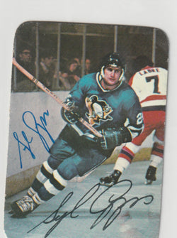 Syl Apps Autograph 1976-77 Topps Hockey Card