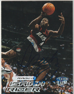 Isaiah Rider Autograph 1999-00 Fleer Ultra NBA Basketball Card
