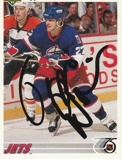 Teppo Numminen Autograph 1991-92 Upper Deck Hockey Card