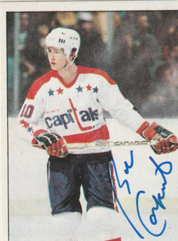 Bob Carpenter Autograph 1983-84 O-Pee-Chee Hockey Sticker