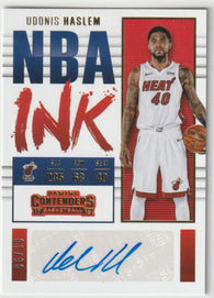 Udonis Haslem 2017-18 Panini Contenders Basketball NBA Ink Autograph NI-UHL /10 GOLD
