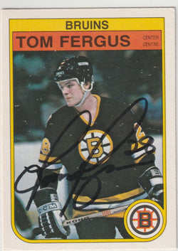 Tom Fergus Autograph 1982-83 O-Pee-Chee Hockey Rookie Card