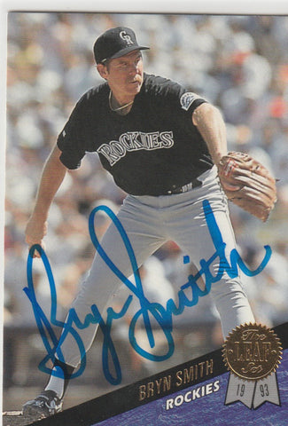 Bryn Smith Autograph 1993 Leaf Baseball Card
