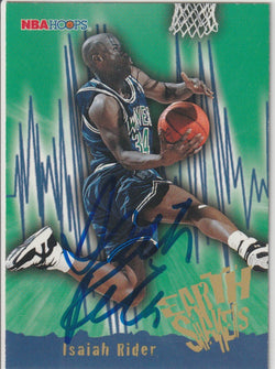 Isaiah Rider Autograph 1995-96 NBA Hoops Basketball Card