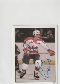 Bob Carpenter Autograph 1982-83 O-Pee-Chee Hockey Sticker