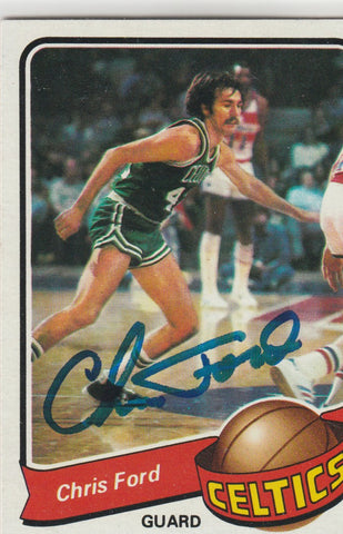Chris Ford Autograph 1979-80 Topps Basketball Card