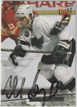 Robert Lang Autograph 1993-94 Fleer Ultra Hockey Card
