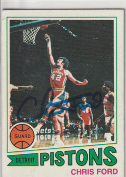 Chris Ford Autograph 1977-78 Topps Basketball Card