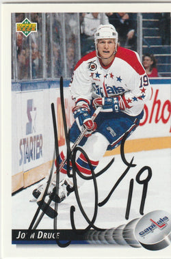 John Druce Autograph 1992-93 Upper Deck Hockey Card