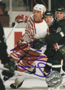 Paul Ysebaert Autograph 1991-92 Pro Set Platinum Hockey Card