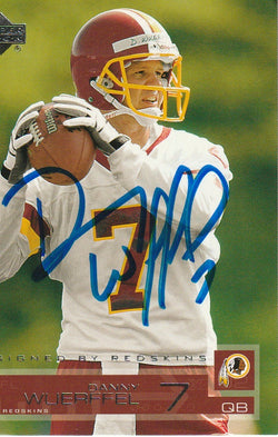 Danny Wueffel Autograph 2002 Upper Deck Football Card